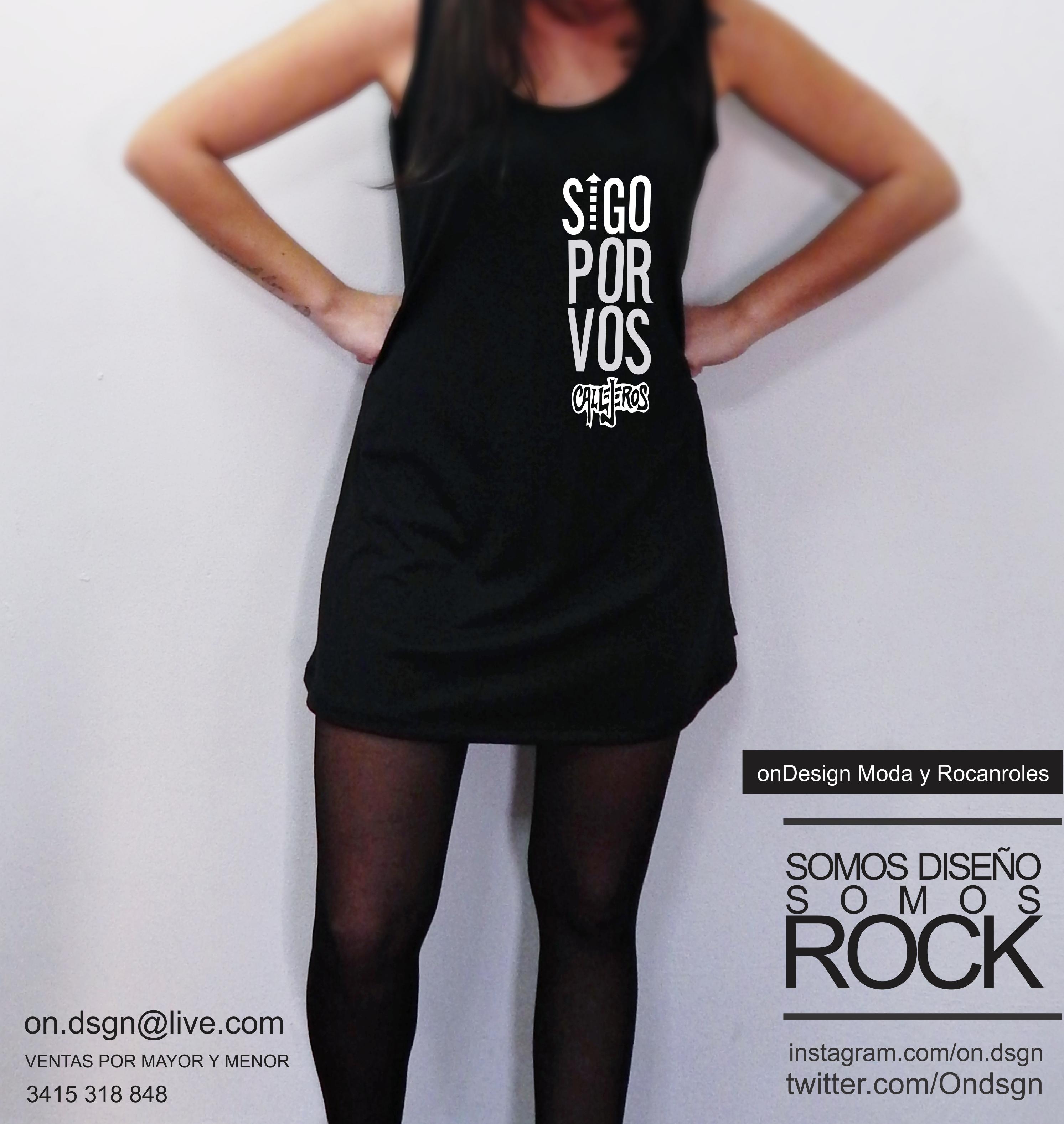 Moda Vestidos Rocanroles Vos Negros Por Ondesign Remerón Y Sigo shQdtrC